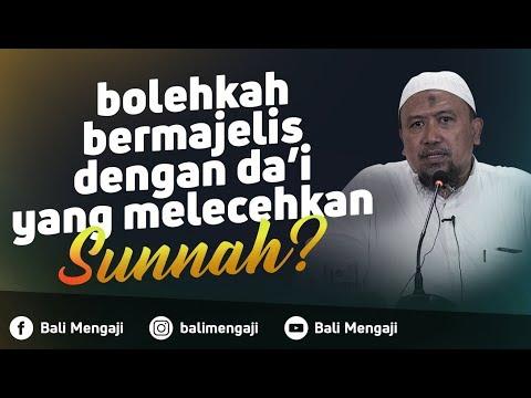 Video Singkat: Bolehkah Bermajelis Dengan Da'i Yang Melecehkan Sunnah? - Ustadz Mahfudz Umri, Lc