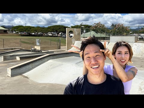FLAMINGO TO BANANA SLIDE - Incredibly Fun Skatepark With Nana + Street Skating!