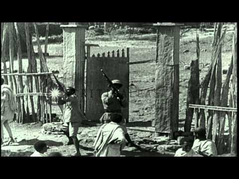Italians Bombard Dessey Village As Ethiopians Fire Anti Aircraft Guns In Ethiopia...HD Stock Footage