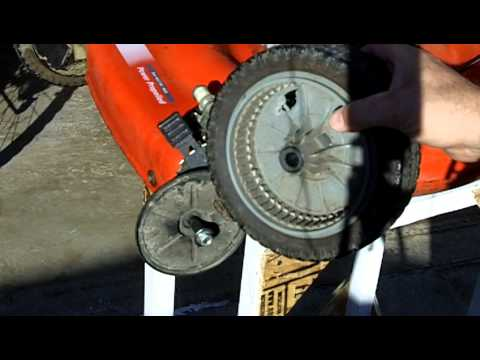 Lawn Mower Repair Scotts Briggs and Stratton 6.0 Self Propelled Problem Part 4 of 4