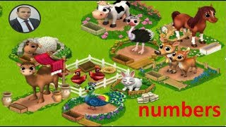 Learning numbers by animals in our happy farm  for kids