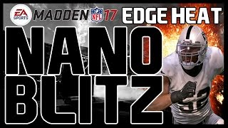 Madden 17: UNSLIDABLE 4 Man Edge Heat! Nickel 3-3-5 Odd - Pinch 0/Overload 3 Sky! Nano Blitz!