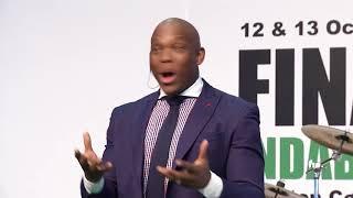 Vusi Thembekwayo speaking at Finance Indaba Africa 2017