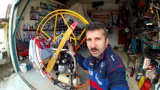 Paramotor smoke system Turkey