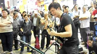 Street Performer in Hong Kong