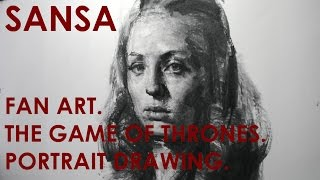 Demo Sansa Game Of Thrones  Art Of Charcoal Drawing By Zin Lim A