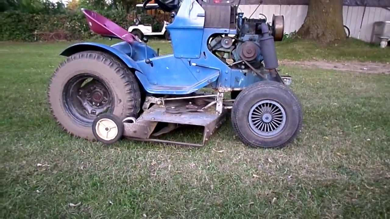 Sears Ss12 Garden Tractor : Sears ss h p cut garden tractor youtube
