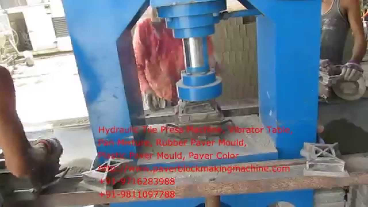 Hydraulic Tile Press Machine Paver Block Making Machine