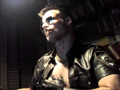 Smoking In Gloves And Leather Shirt video