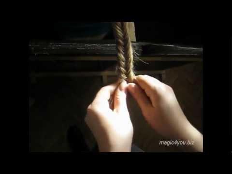 Видеоурок по заплетанию косички «Рыбий хвост»
