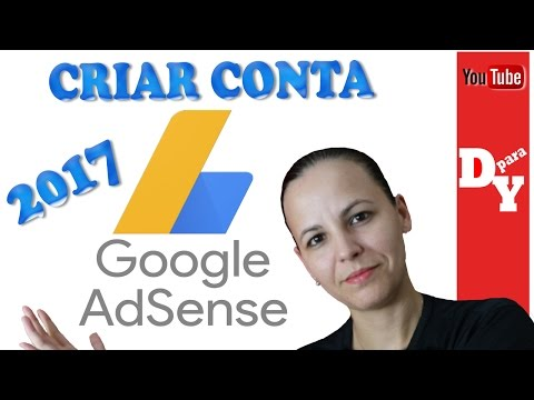 Como criar uma conta AdSense YouTube 2017