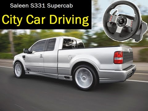 City Car Driving simulator - Offroad Cruise with Logitech G27, pickup truck Saleen Supercab. 1080p