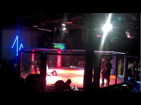 1st Fight. Donnie Hair's Live Cage Fights 8-18-2012