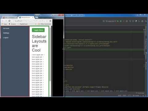Bootstrap Tutorial for Beginners - 11 - Sidebar Menu Templates
