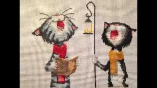 Best cross-stitch design ever? Silent Night Cats
