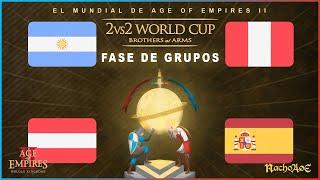 MUNDIAL AOE - PERU vs ARGENTINA B y ESPAÑA vs AUSTRIA!