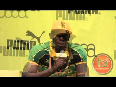 Usain Bolt Pre-Daegu World Champs Press Conference