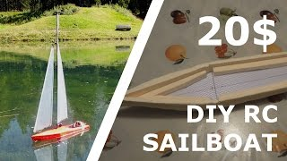 DIY RC SAILBOAT FOR 20$! [Part 2]