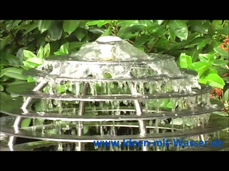 slink springbrunnen gartenbrunnen harmonie edelstahl flachstahl lamellenbrunnen youtube. Black Bedroom Furniture Sets. Home Design Ideas
