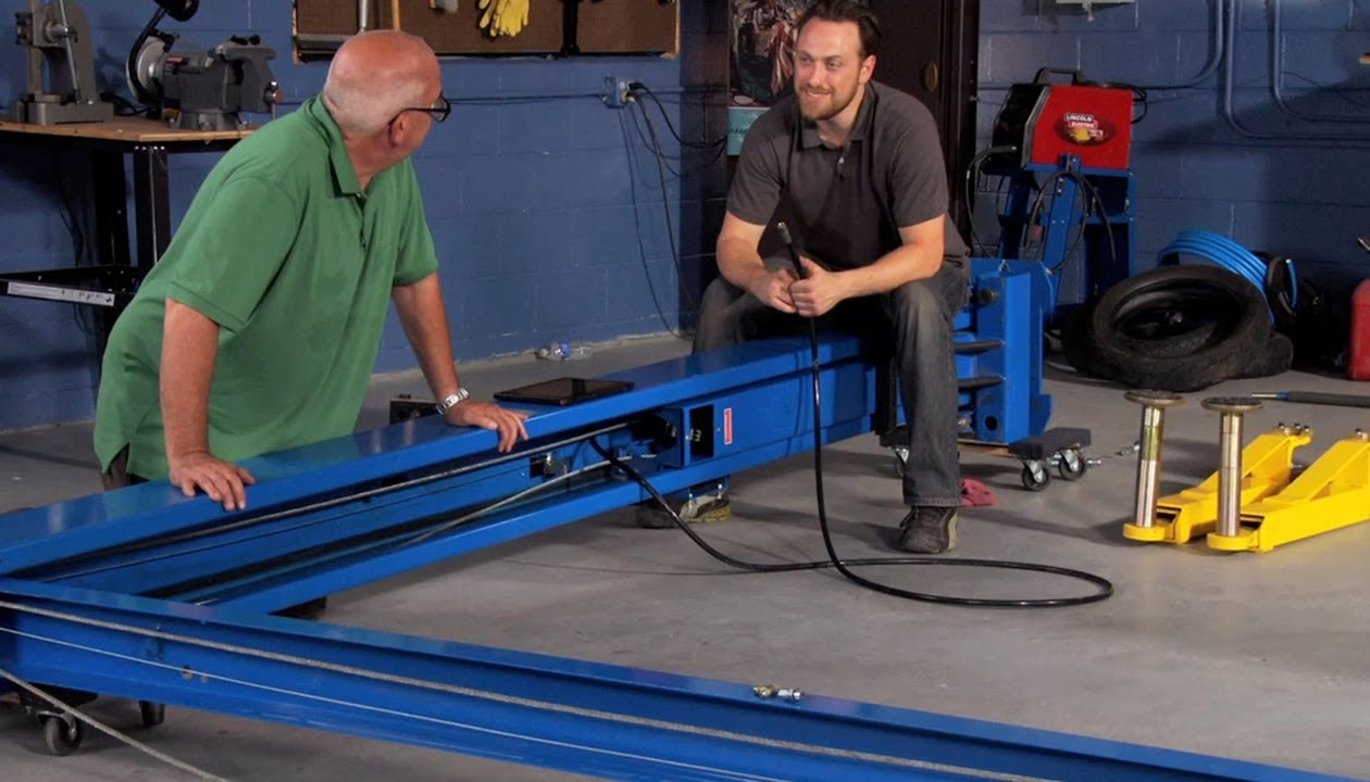 how to install a vehicle lift  part 2