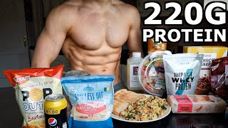 Full Day of Eating to Lose Fat & Gain Muscle | Upper Body Home Workout (Advanced)...