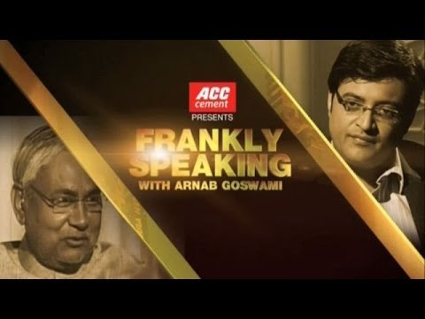 Frankly Speaking with Nitish Kumar - Full Interview