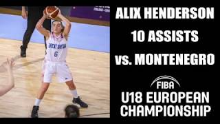 ALIX HENDERSON - GB Basketball - 10 Assists vs Montenegro - FIBA U18 European Championship