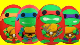 Teenage Mutant Ninja Turtles Play Doh  Eggs Compilation - Leonardo Raphael Michelangelo & Donatello