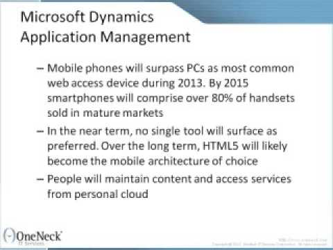 Microsoft Dynamics Application Management: How the Top 10 Strategic Technology Trends for 2013