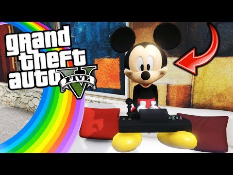 ENCONTRÉ A MICKEY MOUSE !! - GTA V [Secreto/Misterio/Mod]