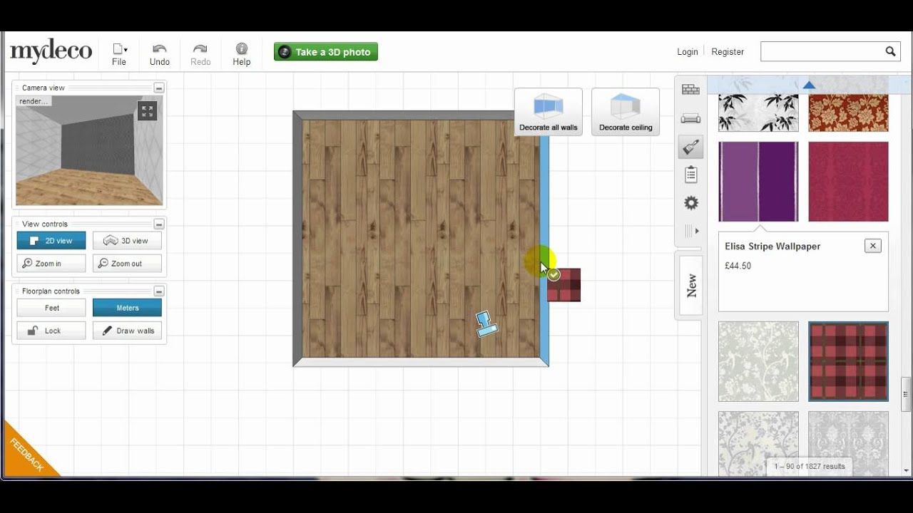 Mydeco 3d Room Tutorial How To Paint A Wall Youtube