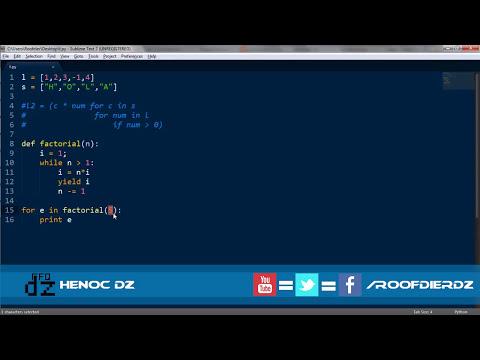 Tutorial Python 26 - Generadores
