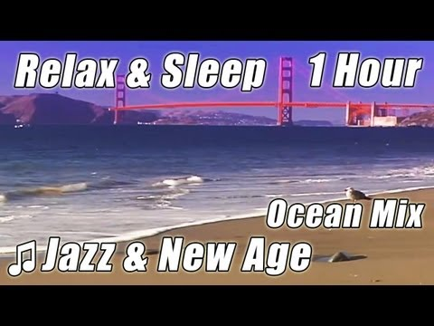 JAZZ INSTRUMENTAL for Studying Relax Sleep Study Music Soft New Age Song Playlist Ocean Wave Sounds
