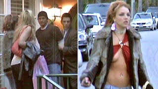 Britney Spears Runs Around In Barely-There Blouse As Brother Bryan Is