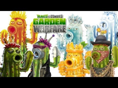 My Cactus Family   Plants Vs. Zombie  Garden Warfare  Cactus