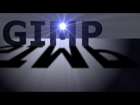 GIMP Text Effects - Supernova Text
