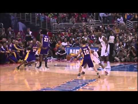 Kobe Bryant 38 Points @ Los Angeles Clippers (Dunk over Chris Paul) - 04/01/2013