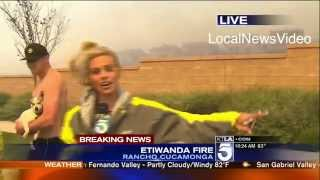 TV reporter Courtney Friel hit on during live interview
