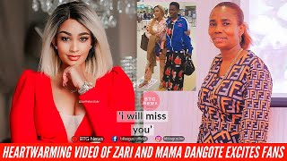 ZARI AND DIAMOND'S MUM MOMENTS BEFORE ZARI AND KIDS LEFT TANZANIA FOR SOUTH AFRICA EXCITES MANY FANS