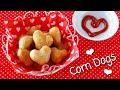Heart-Shaped Corn Dogs (2 Ingredients)   OCHIKERON   Create Eat Happy :)