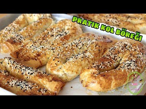 Baklavalık Yufkadan Pratik Kol Böreği/Leziz Börek Harcı ve Börek Sosu Nasıl Hazırlanır?