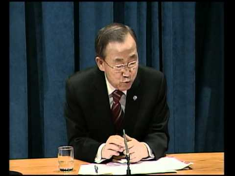 MaximsNewsNetwork: UN's BAN KI-MOON: MIDDLE EAST PEACE TALKS, MDGs, D.R. CONGO, IRAN, IAEA (UNTV)