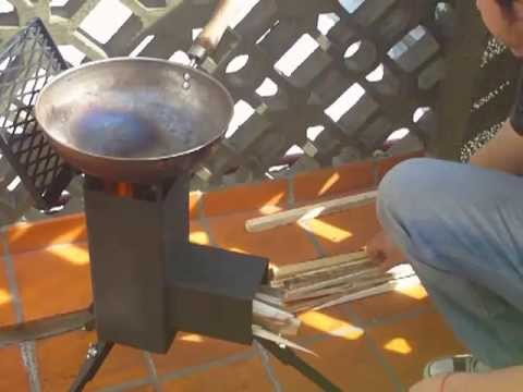Cocina sistema rocket stove ecococina youtube for Planos para fabricar una cocina cohete