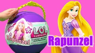 LOL Big Surprise CUSTOM Ball Rapunzel DIY! Toys and Dolls Fun for Kids Opening Surprises | SWTAD