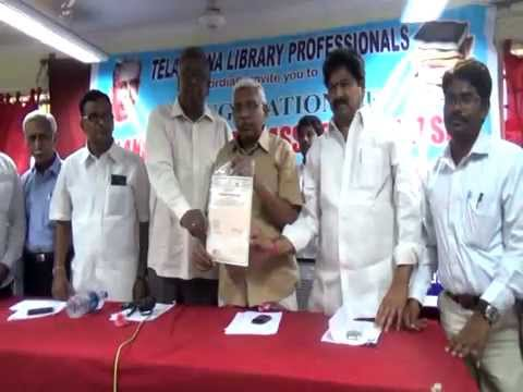 TELANGANA LIBRARY ASSOCIATION FORMATION BY KODANDARAM TSLA