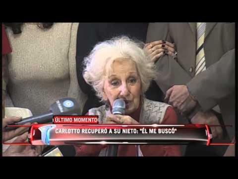 Telenoche - La emoción de Estela de Carlotto al anunciar que encontró a su nieto