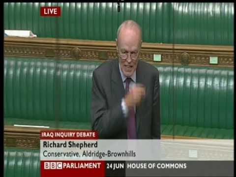 Iraq war Chilcot inquiry debate, Richard Shepherd speech, 24 June 09