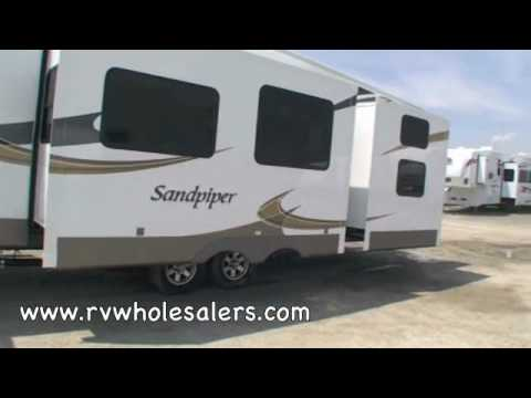 2011 Sandpiper 355QBQ Fifth Wheel Camper at RVWholesalers.com 025056 - Satin