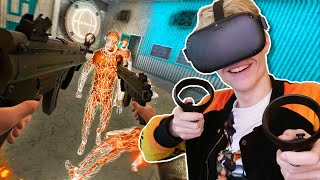 Boneworks VR on the Oculus Quest (Oculus Link Gameplay)