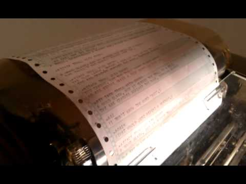 Zork on a teletype. (Loud-ish!)